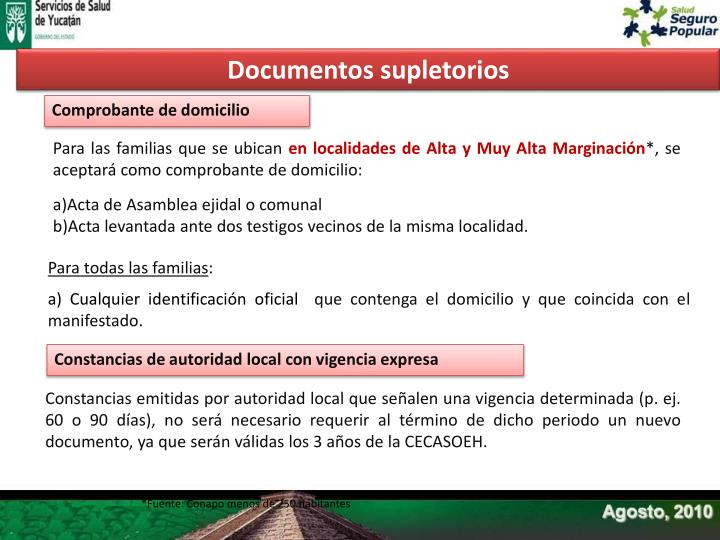 Documentos supletorios