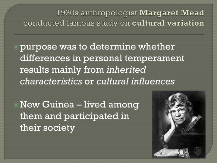 1930s anthropologist