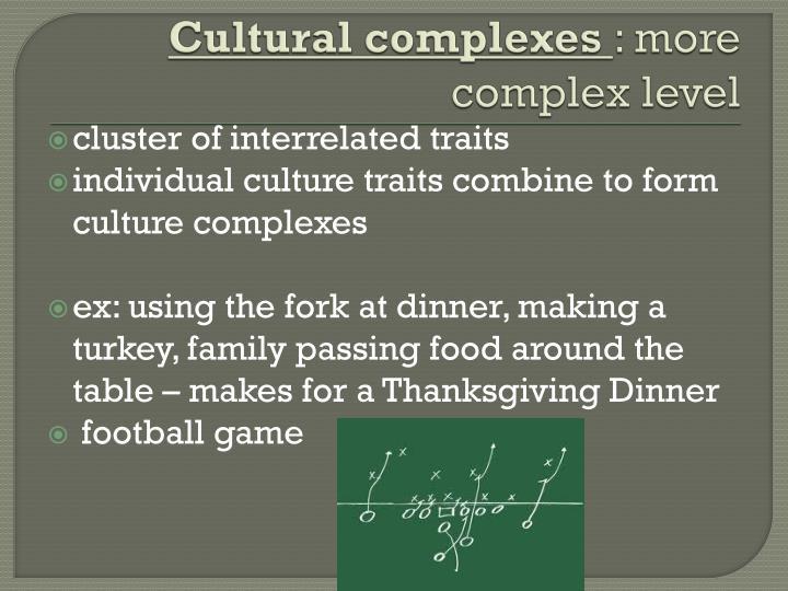 Cultural complexes