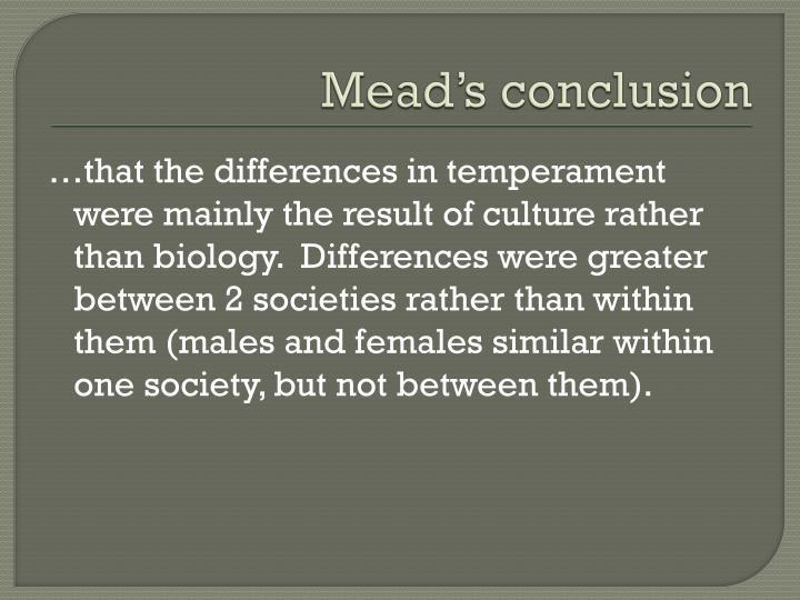 Mead's conclusion