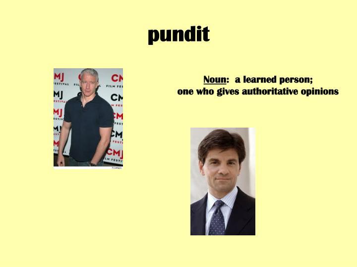 pundit