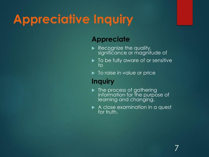 Appreciative Inquiry