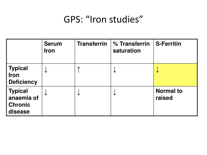 "GPS: ""Iron studies"""