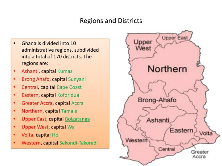 Regions and Districts