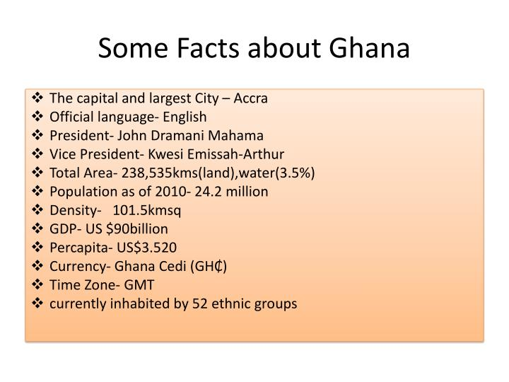 Some Facts about Ghana