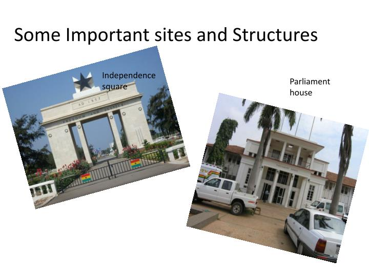 Some Important sites and Structures