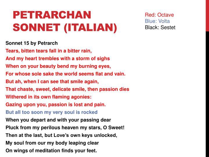 Petrarchan sonnet (Italian)