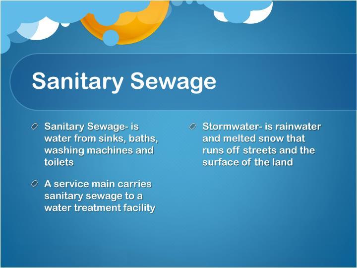 Sanitary Sewage