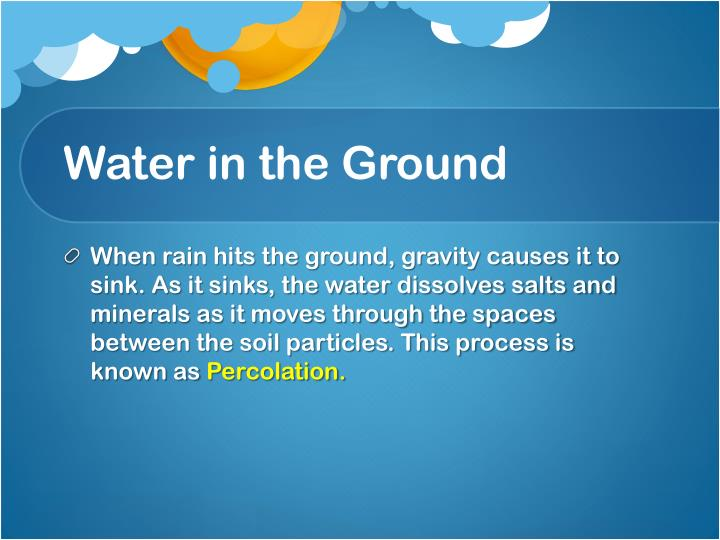 Water in the Ground