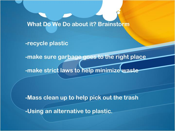 -recycle plastic