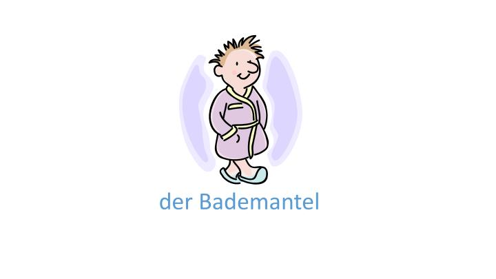 D er bademantel