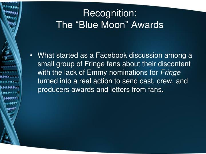 Recognition: