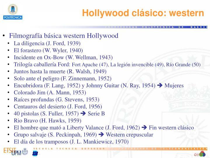 Hollywood clásico: western