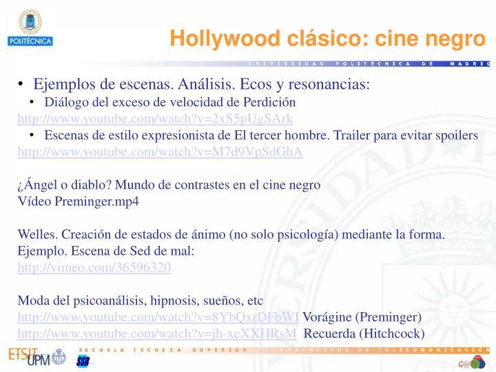 Hollywood clásico: cine negro