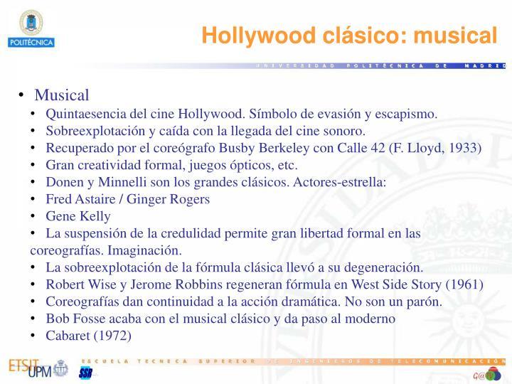 Hollywood clásico: musical