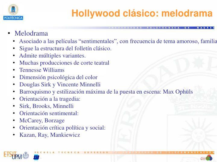 Hollywood clásico: melodrama