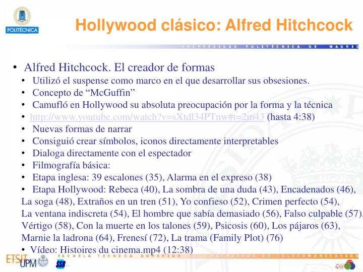 Hollywood clásico: Alfred
