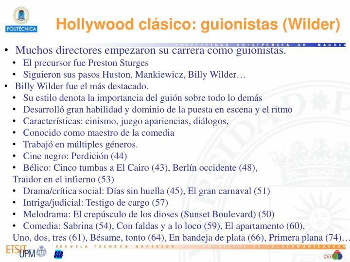 Hollywood clásico: guionistas (