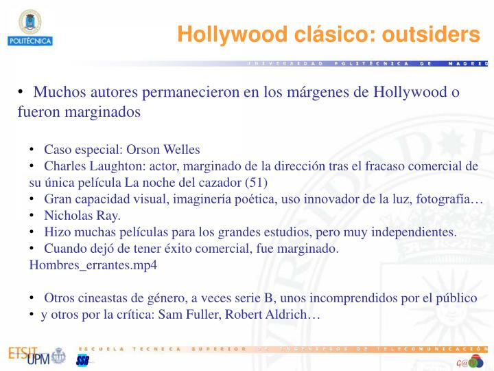 Hollywood clásico: outsiders