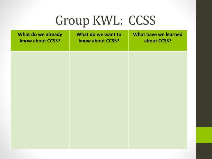 Group KWL