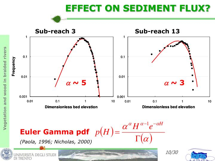 EFFECT ON SEDIMENT