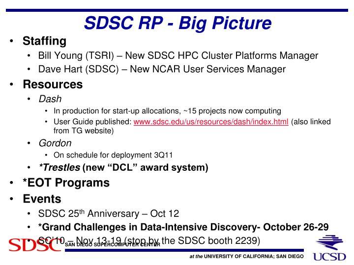 SDSC RP - Big Picture