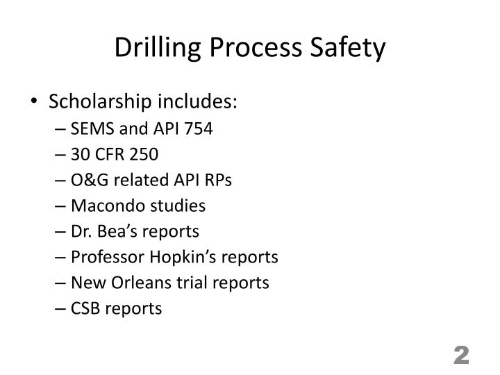 Drilling process safety1