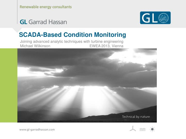 Scada based condition monitoring