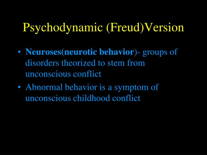 Psychodynamic (Freud)Version