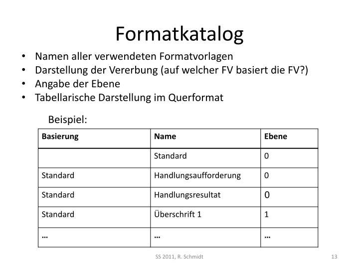 Formatkatalog