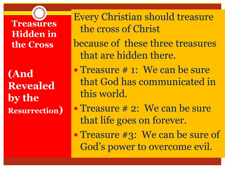 Every Christian should treasure the cross of Christ