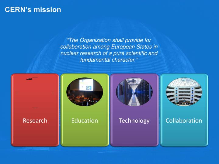 CERN's mission