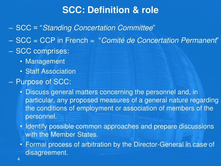 SCC: Definition