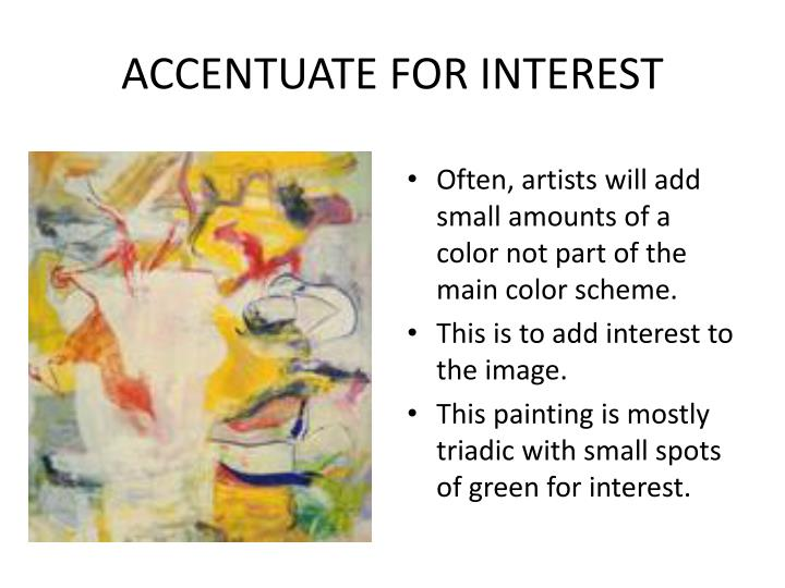 ACCENTUATE FOR INTEREST