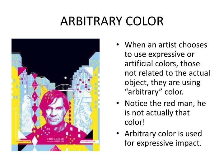 ARBITRARY COLOR