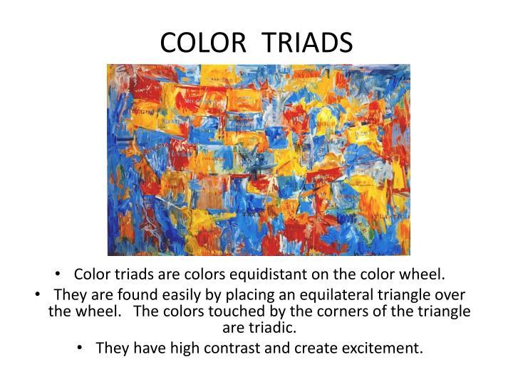 COLOR  TRIADS