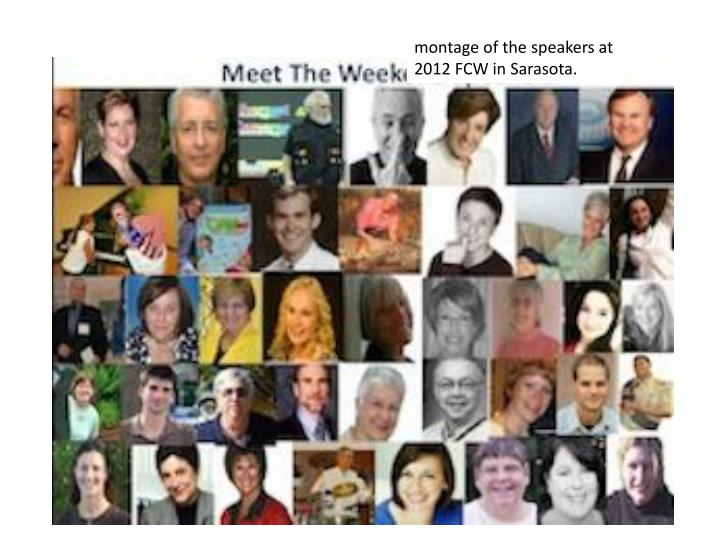 montage of the speakers at