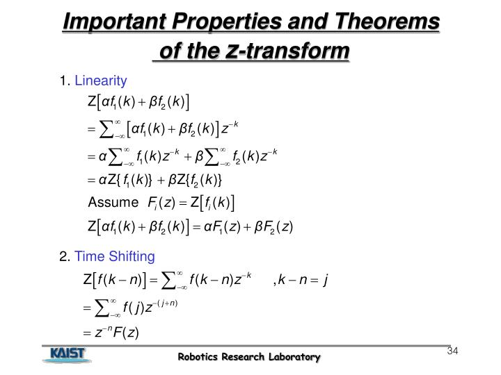 Important Properties and Theorems