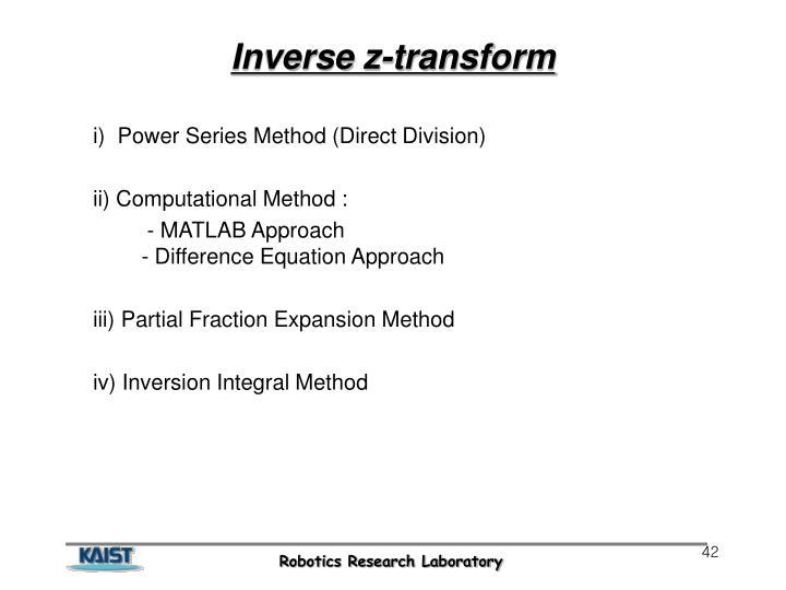 Inverse z-transform