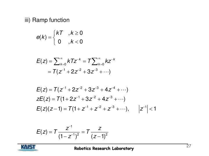 iii) Ramp function