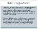 history of northern territory