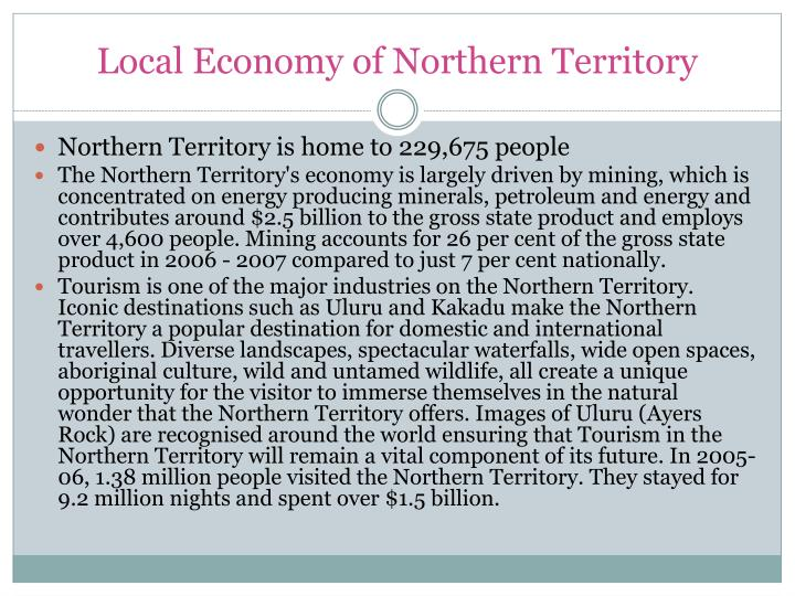 Local Economy of Northern Territory