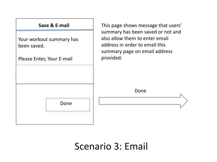 Save & E-mail