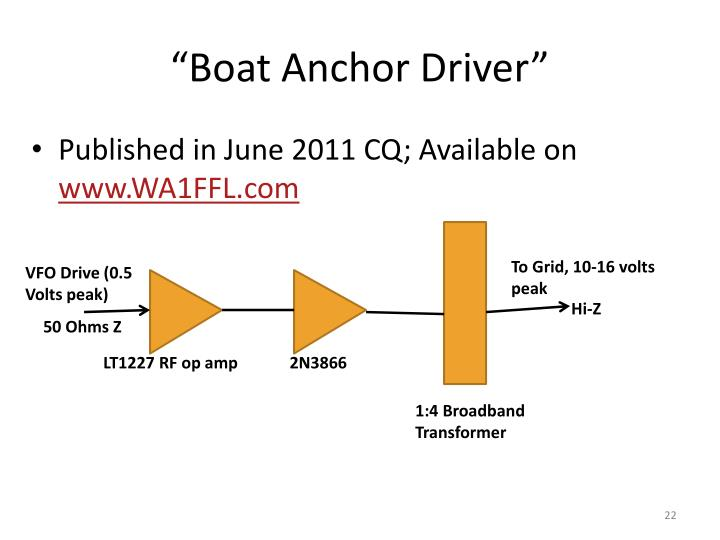 """""""Boat Anchor Driver"""""""