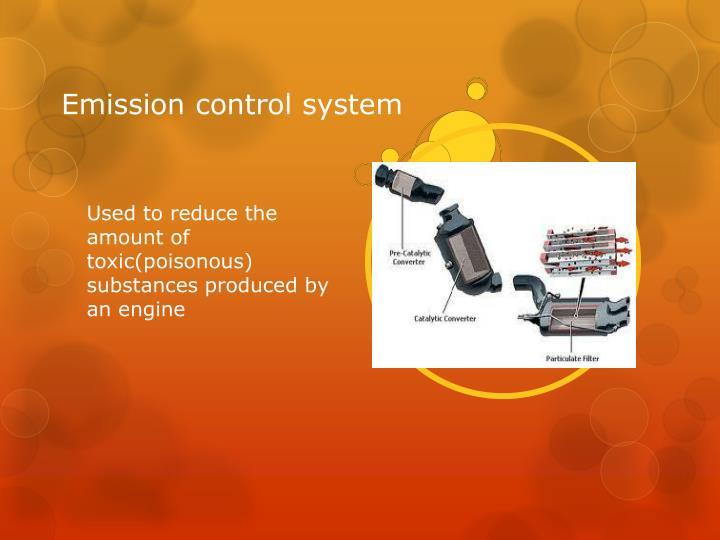 Emission control system