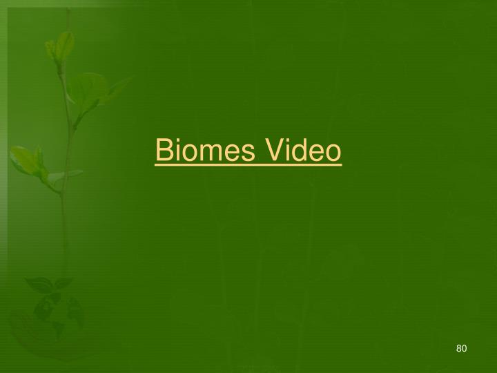 Biomes Video