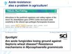 azole resistance also a problem in agriculture