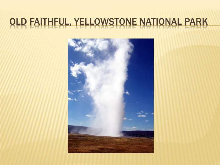 Old faithful,