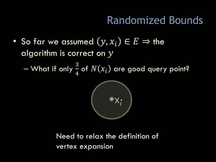 Randomized Bounds
