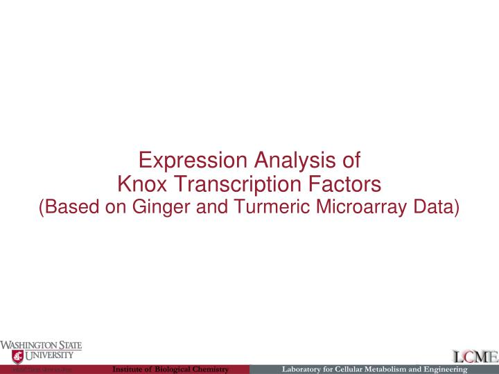 Expression Analysis of
